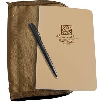 "Rite In The Rain All-Weather Pocket Top 4 5/8"" x 7 1/4"" Notebook Kit - Tan 980T-KIT"
