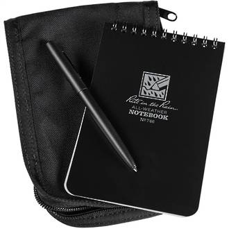 "Rite In The Rain All-Weather Pocket Top 4x6"" Notebook Kit - Black 746B-KIT"