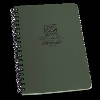 Rite In The Rain All-Weather Side Spiral Notebook, Green - 973