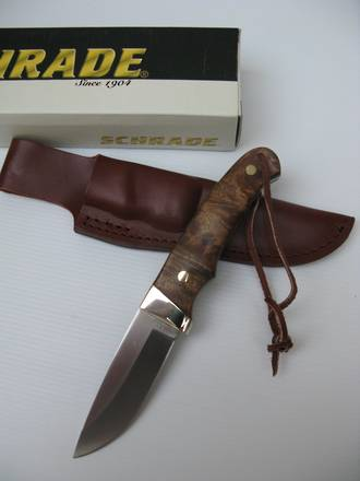 Schrade Old Timer Pro Hunter Drop-Point Knife with Iron Wood Handle - PHW