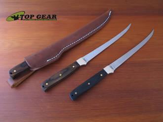 Schrade Uncle Henry Steelhead Fillet Knife, Dark Brown Pakka Wood - S167DPW