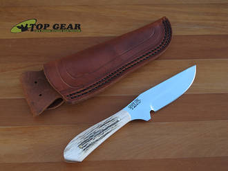 Silver Stag D2 Elk Skinner Knife with Stag Handle - ES4000