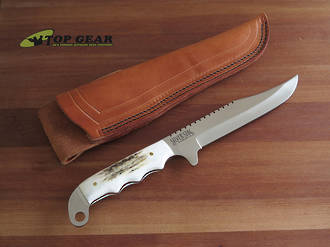 Silver Stag D2 Sidekick Pro Bowie Knife, Stag Handle SK6.0