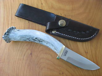 Silver Stag Sharp Forest Hunting Knife with Stag Handle -  SF3.75