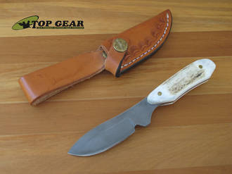 Silver Stag Whitetail Caper Knife with Stag Handle - WC3000