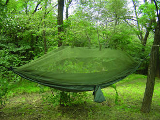 Snugpak Jungle Hammock with Mosquito Net, Olive Green - 61660