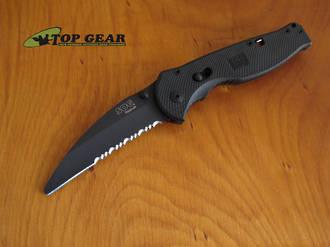 SOG Flash Rescue Knife; Black Tini - FSA-6