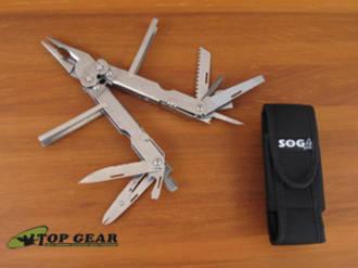 SOG Powerlock S-60N Multi-Tool, Stainless Steel Finish - S60-N