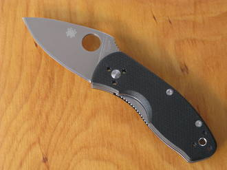 Spyderco Ambitious Pocket Knife, G10 Handle - C148GP