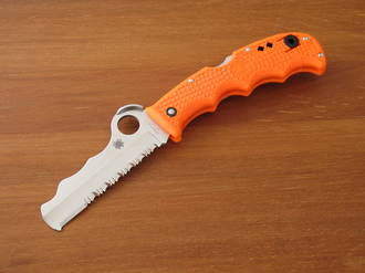 Spyderco Assist I Rescue Knife with Orange Handle - C79PSOR