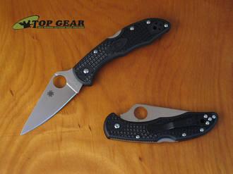 Spyderco Delica 4 Flat Ground Knife, VG10 Stainless Steel - C11FPBK