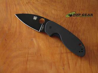 Spyderco Efficient Pocket Knife, 8Cr13MoV, Black Blade, Straight Edge - C216GPBBK