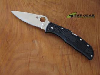 Spyderco Endela Folding Knife, VG-10 Stainless Steel, Black FRN - C243PBK