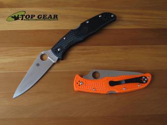 Spyderco Endura Pocket Knife, Flat Ground - C10FPBK or C10FPOR
