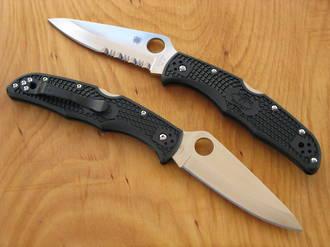 Spyderco Endura Pocket Knife - C10PBK Plain Edge or C10PSBK Combo Edge