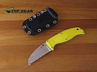 Spyderco Enuff Salt Sheepfoot Rescue Knife H-1 - FB31SYL