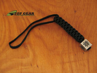 Spyderco Lanyard with Pewter Spyder Bead - BEAD1LY