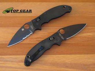 Spyderco Manix 2 Folding Knife, Black DLC Coated Blade - C101GPBBK2