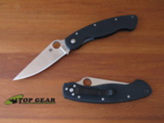 Spyderco Military Knife, Fine Edge, Satin Finish - C36GPE
