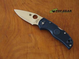 Spyderco Native 5 Folding Knife, CPM-S110V Stainless Steel, Blue FRN Handle, Plain Edge - C41PDBL5