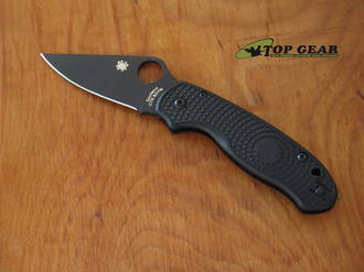 Spyderco Paramilitary 3 Lightweight Folding Knife, CTS-BD1N Stainless Steel, Black DLC Coating, Black FRN Handle - C223PBBK