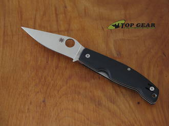 Spyderco Pattadese Ethnic Series Linerlock Knife, Bohler M390 Stainless Steel, Contoured Black G10 Handle - C257GP