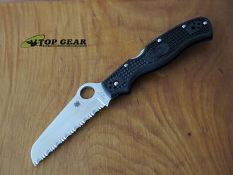 Spyderco Rescue 3 Folding Knife with Black Handle - C14SBK3