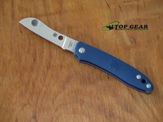 Spyderco Roadie Pocket Knife, Bohler N690 Cobalt Steel, Blue FRN Handle - C189PBL