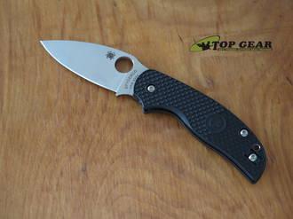 Spyderco Sage 5 Folding Knife, CPM-S30V, Compression Lock, Black FRN Handle - C123PBK