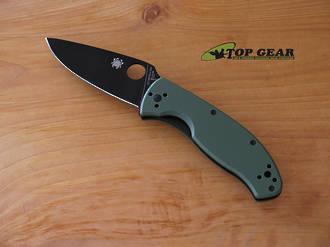 Sypderco Tenacious Folding Knife, Green Handle with Black, Plain Edge - C122GPBGR