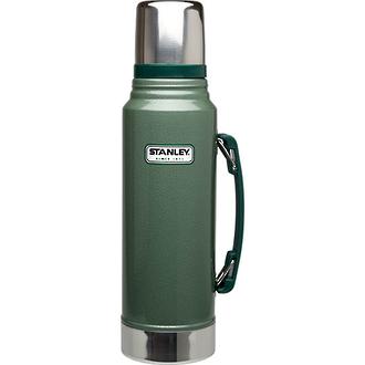 Stanley Classic Ultra Vacuum Bottle, 1 Litre, Hammertone Green - 10-08266-005