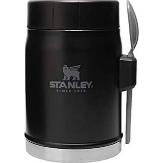 Stanley Classic Vacuum Food Jar, 0.4 Litres, Black - 10-09382-002