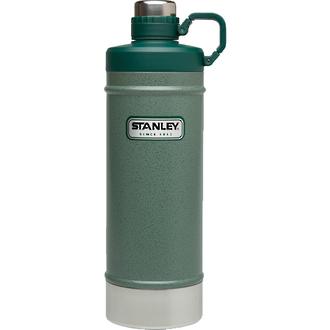 Stanley Classic Vacuum Water Flask, 621 ml, Hammertone Green - 10-01621-001