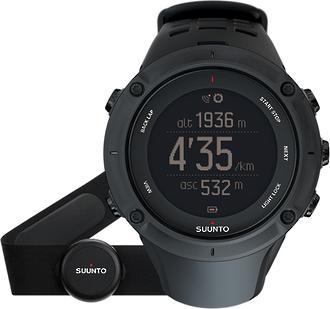 Suunto Ambit3 Peak Black HR GPS Watch with Heart Rate Monitor - SS020674000