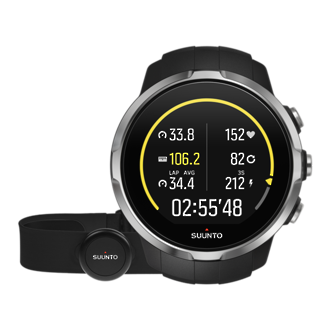 Suunto Spartan Sport Black GPS Touch Screen Watch with HR Monitor - SS022648000