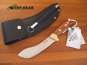 Svord Deluxe Curved Skinning Knife with Mahogany Handle - 677BB