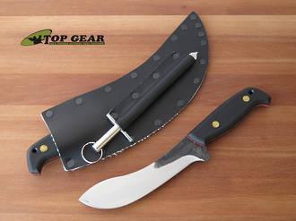 """Svord 5 3/4"""" Curved Skinner Knife, Carbon Steel, Black Handle - 67L"""