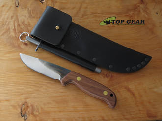 Svord Model 37 Drop-Point Knife, 11 cm 12C27 Carbon Steel, Hardwood Handle