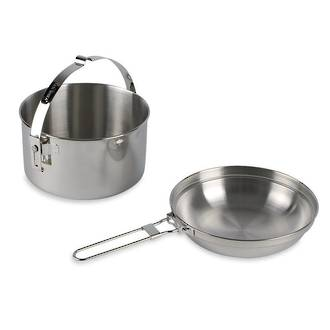 Tatonka 1,0L Kettle (Billy) with Pan, Stainless Steel - 4001