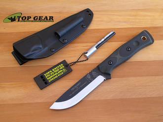 Tops B.O.B. Brothers of Bushcraft Survival Knife. Micarta Green - BROS-G/B G10