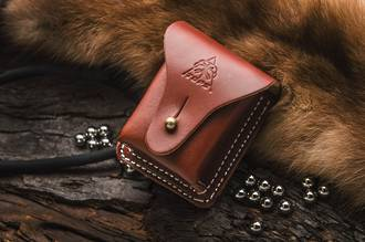 Tops Leather Bushcraft Pouch, Brown Leather - TPSHLLBP01