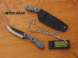 Tops Mini Scandi Knife, 1095 High Carbon Steel - TPMSK-BLM