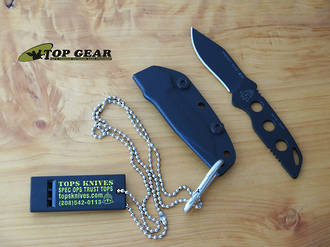 Tops Sneaky Pete Mini Neck Knife, 154CM Stainless Steel - TPSPM01
