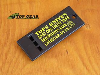 Tops Knives Survival Whistle - Black TKSW
