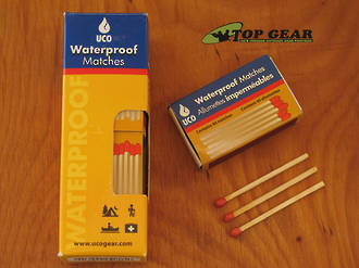 UCO Waterproof Matches, 4-Pack (160 Matches) - MT-WAT-4PK