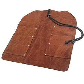 UJ Ramelson 6 Pocket Leather Tool Roll for Woodcarving Tools - UJ03