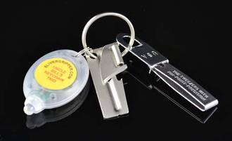 Uncle Bill's SIiver Gripper Keychain Trio, Stainless  - 08003