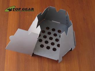 Vargo Hexagon Wood Stove, Stainless Steel - 423
