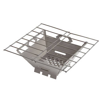Vargo Stainless Steel Fire Box Grill - Foldable 436