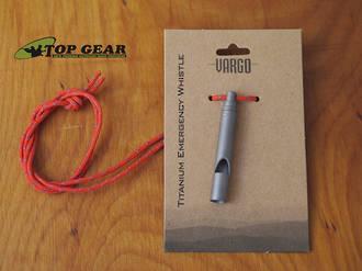 Vargo Titanium Emergency Whistle with Neck Lanyard - 00416